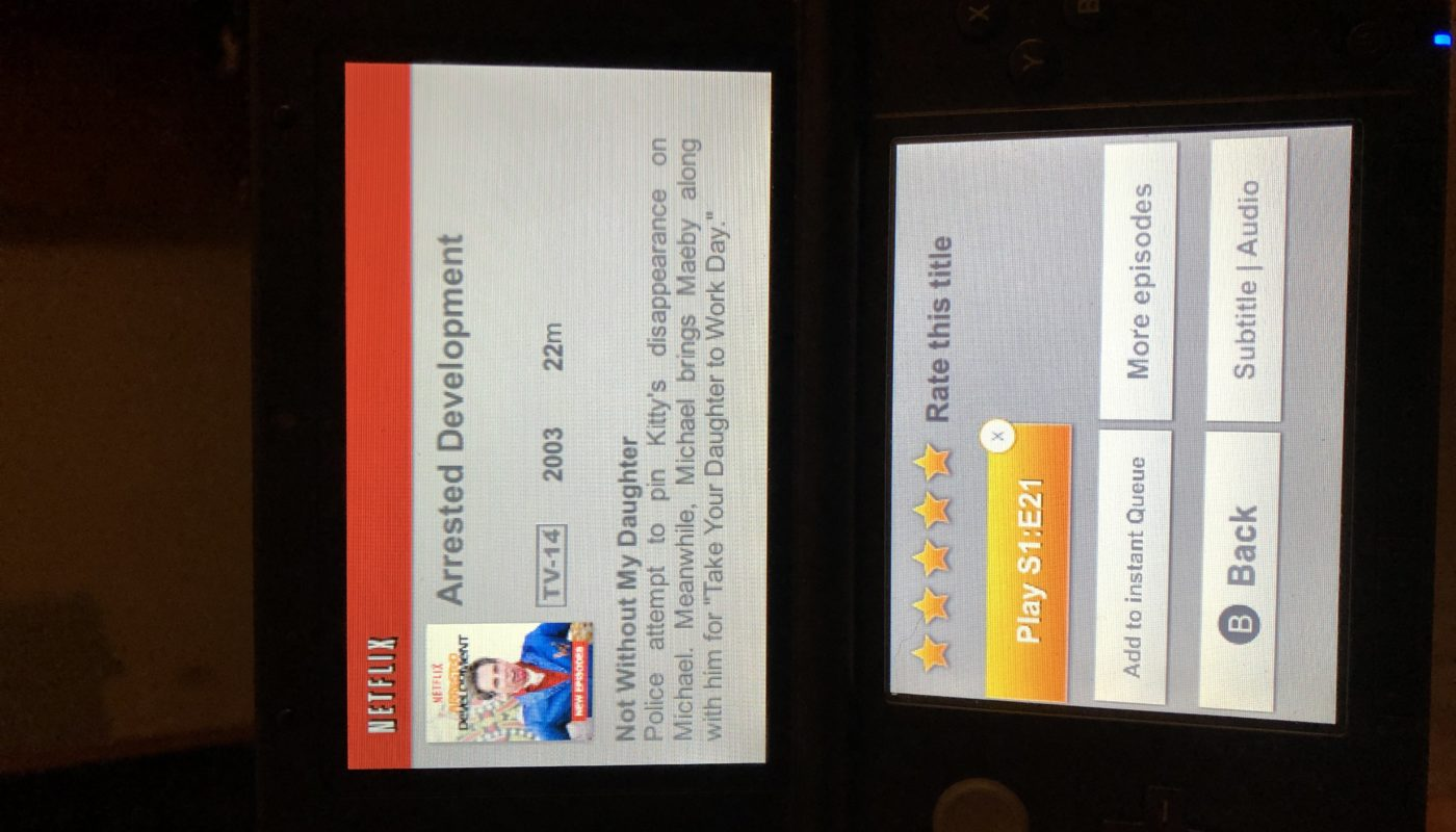 Netflix on my Nintendo 3DS